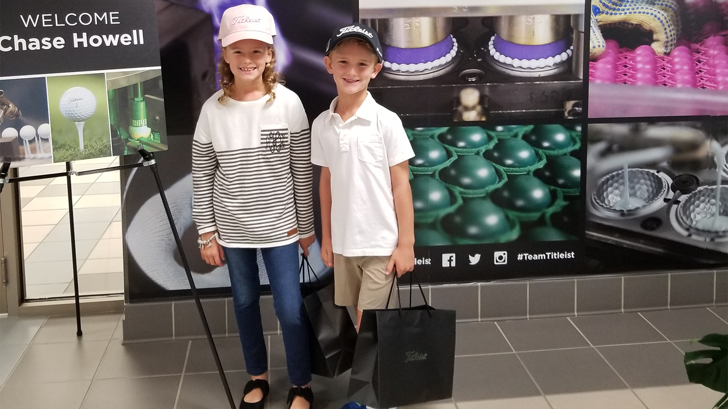 Ansley (left) and Chase Howell (right) at Titleist...