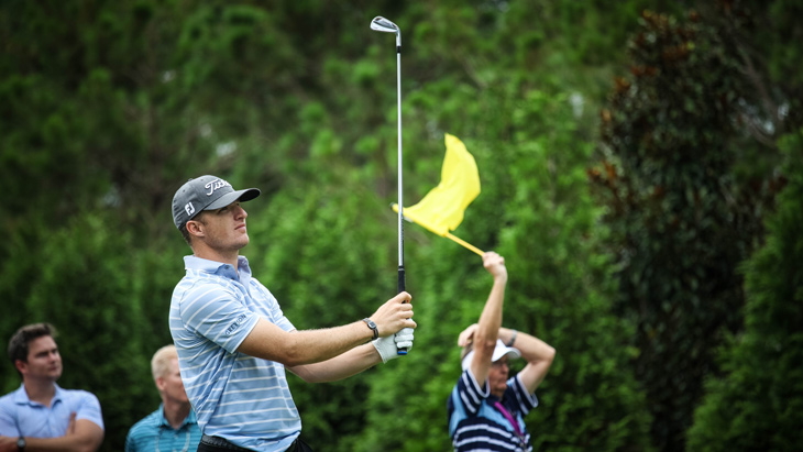 With his T-MB iron in hand, Hoffmann faces the...